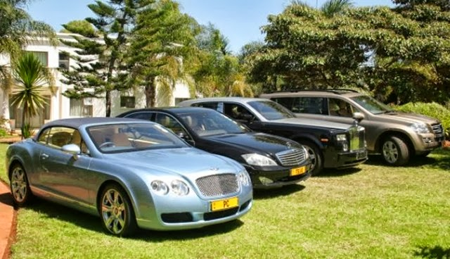 Some of Dr. Phil's cars