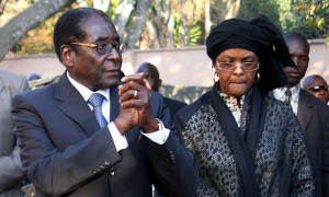 Grace and Robert Mugabe