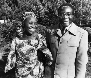 March-1980-Robert-Mugabe Sally Mugabe Zimbabwe Liberation