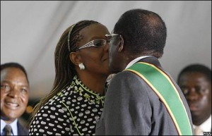 Robert Mugabe Grace Mugabe Marriage Succession First Lady Second Wife Life Kissing