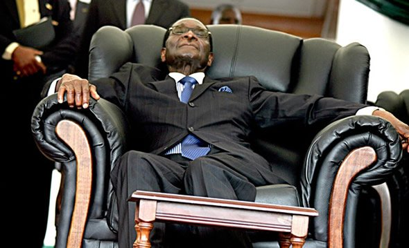 Sometimes Mugabe looks like he will die the next day, only to reappear rejuvinated