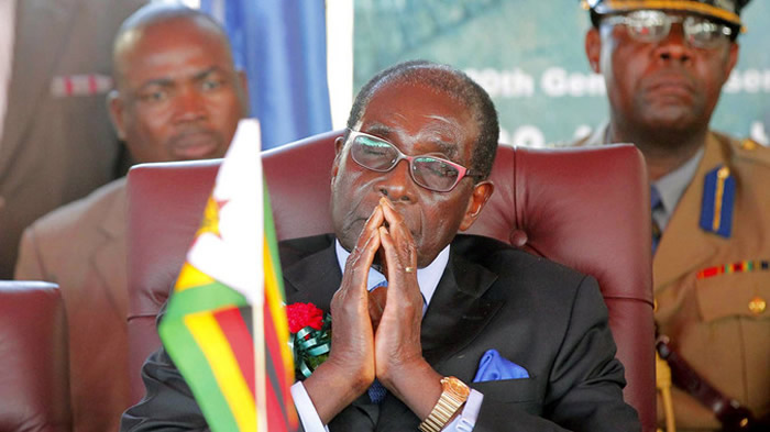 mugabe prays