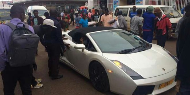Watch Video Wealthy Zimbabwe Driver Shows Off Lamborghini In Harare